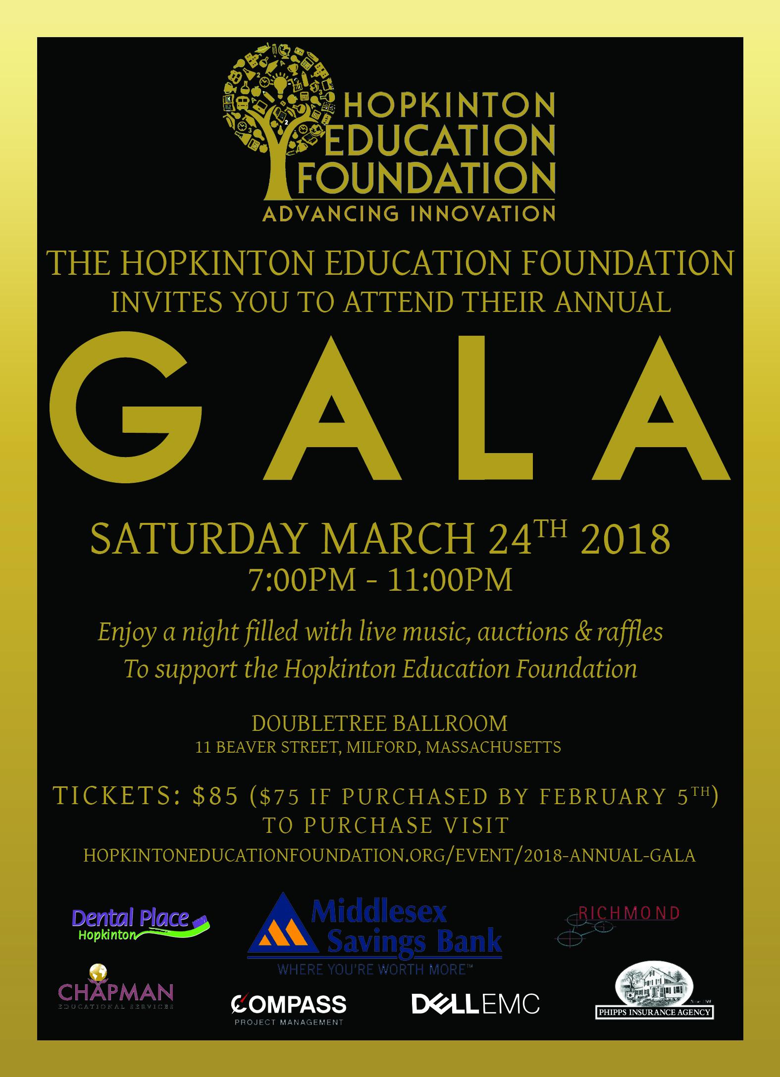 Hef gala invitation hopkinton education foundation hef gala invitation stopboris Images
